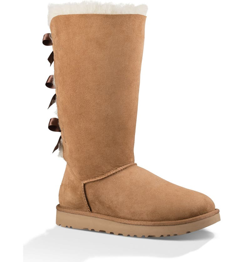 UGG<SUP>®</SUP> Bailey Bow Tall II Boot, Main, color, CHESTNUT SUEDE