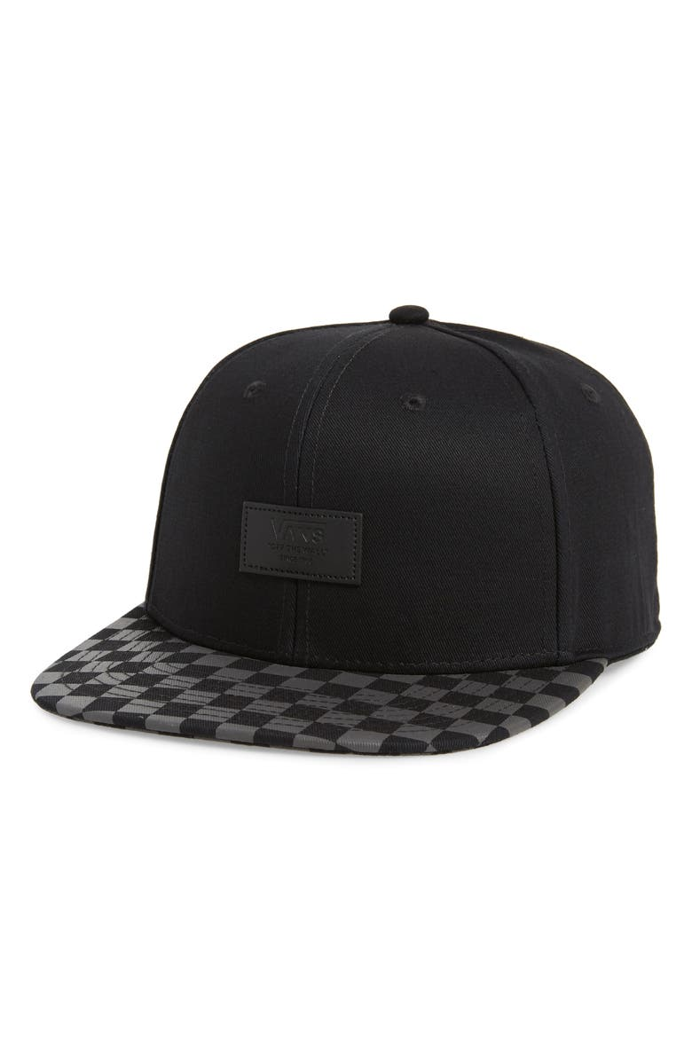 VANS Allover It Snapback Baseball Cap, Main, color, BLACK/ CHARCOAL