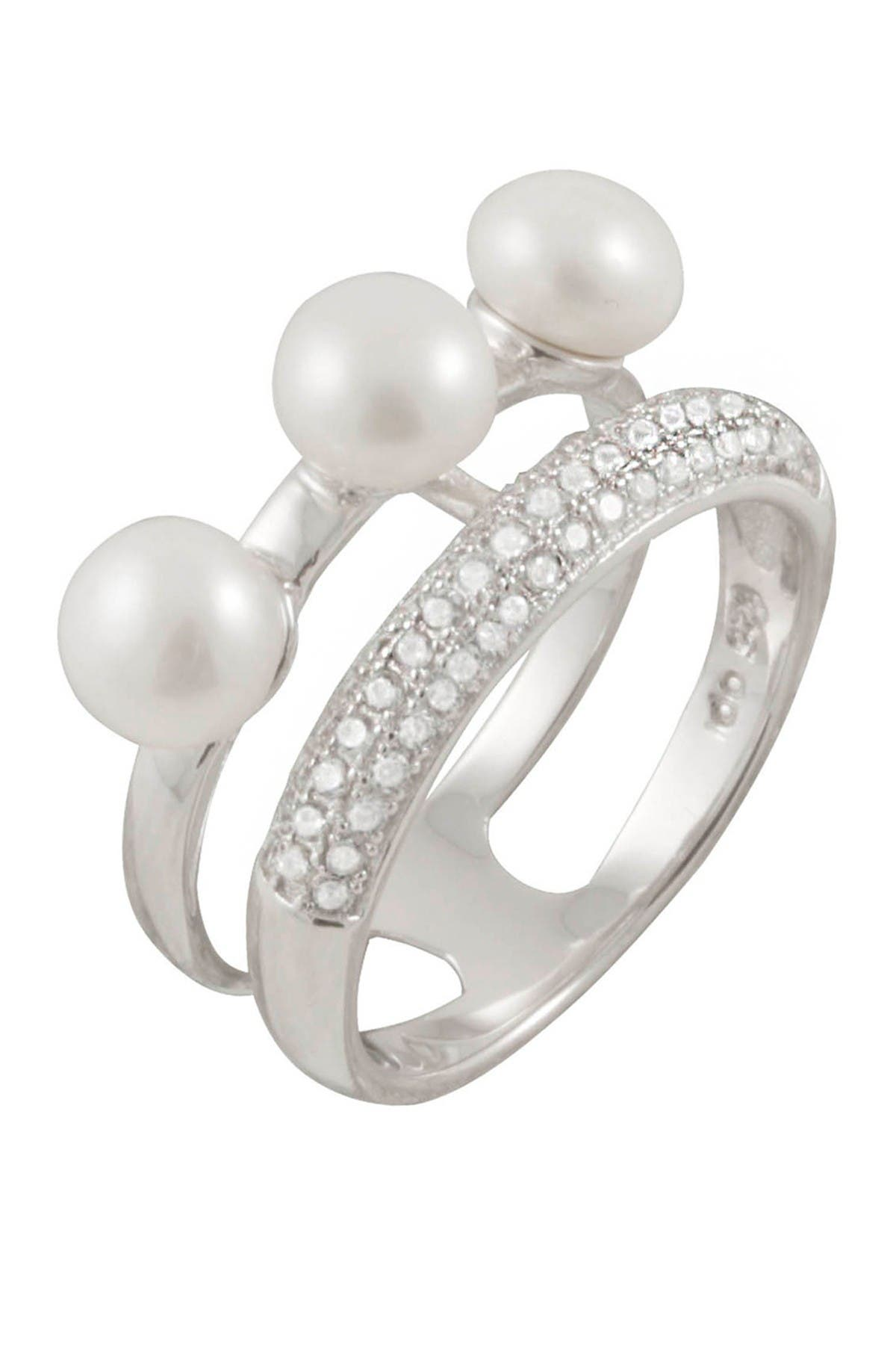 Image of Splendid Pearls White Pearl Ring - Size 7
