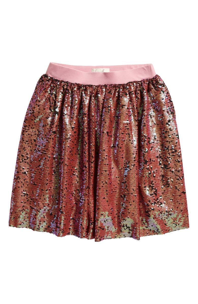 PEEK AREN'T YOU CURIOUS Kristy Sequins Skirt, Main, color, PEACH