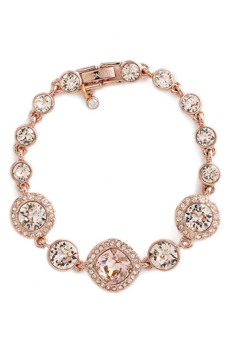 GIVENCHY Crystal Line Bracelet, Main, color, 950