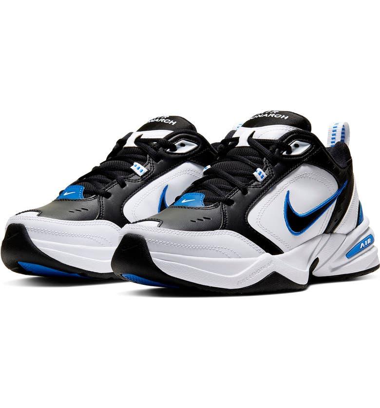 NIKE Air Monarch IV Training Sneaker, Main, color, 002 BLACK/BLACK
