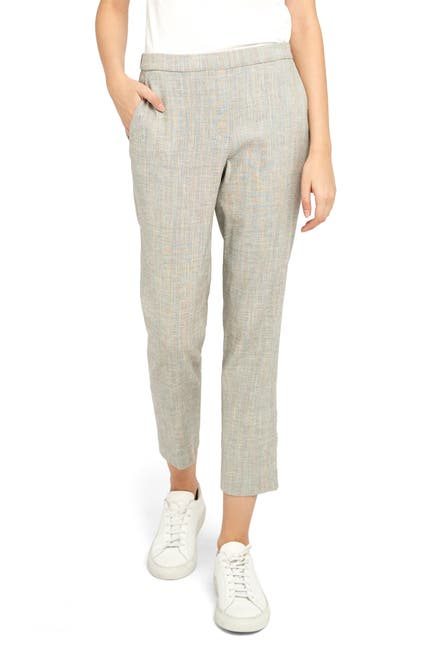 Image of Theory Treeca Pull-On Linen Blend Pants