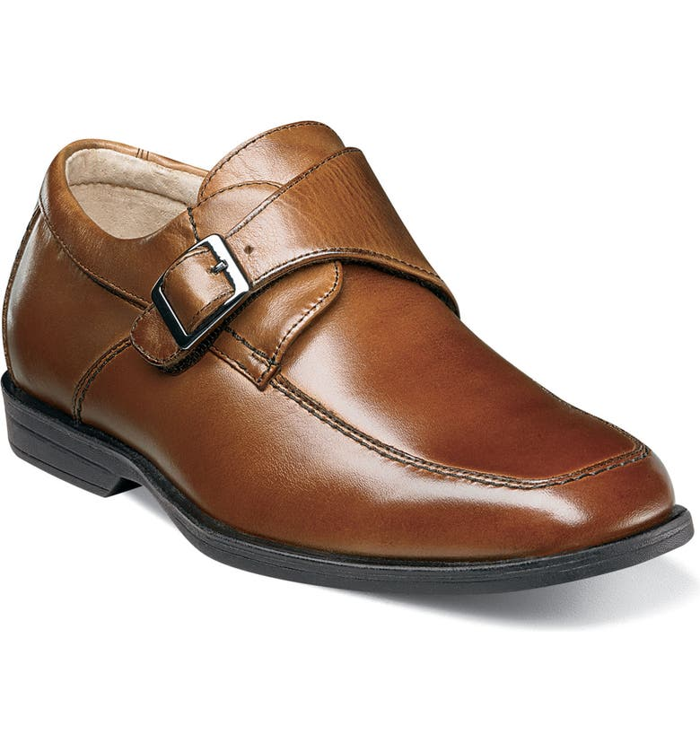 FLORSHEIM 'Reveal' Monk Strap Slip-On, Main, color, COGNAC
