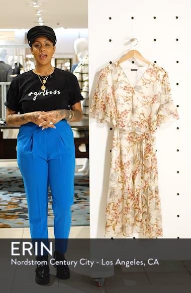Wildflower Tiered Ruffle Chiffon Dress, sales video thumbnail