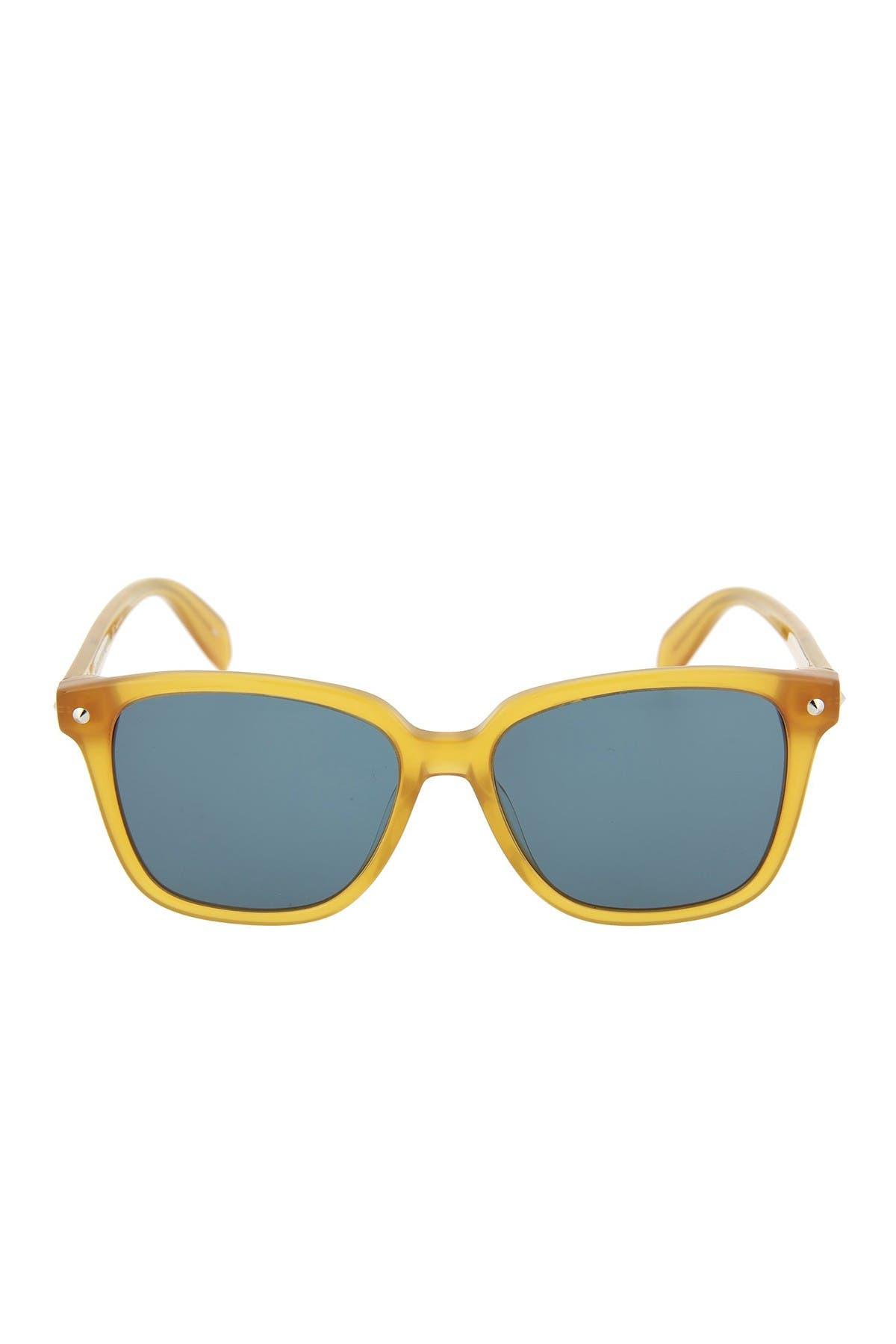Image of Alexander McQueen 53mm Square Sunglasses