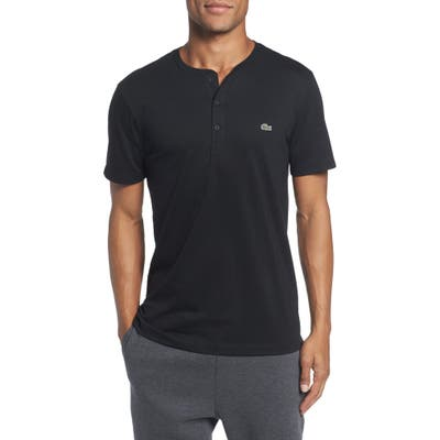 Lacoste Regular Fit Henley T-Shirt, Black