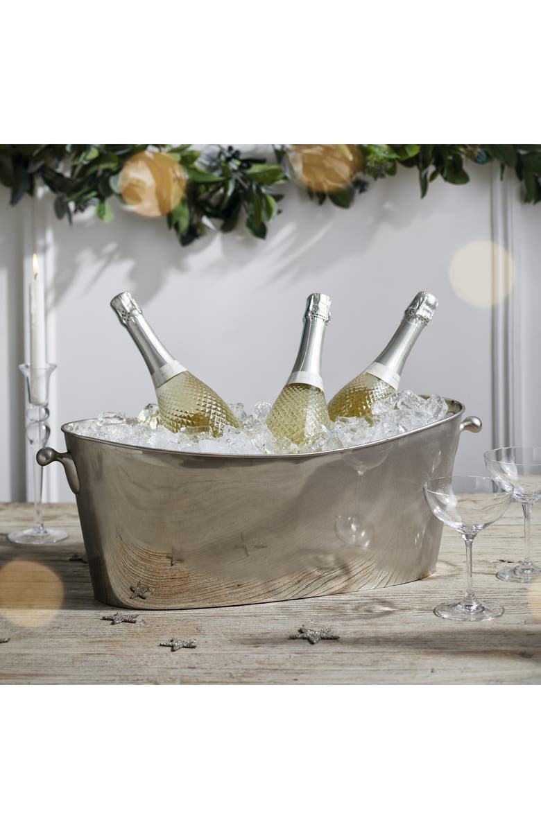 THE WHITE COMPANY Ultimate Champagne Trug, Main, color, SILVER