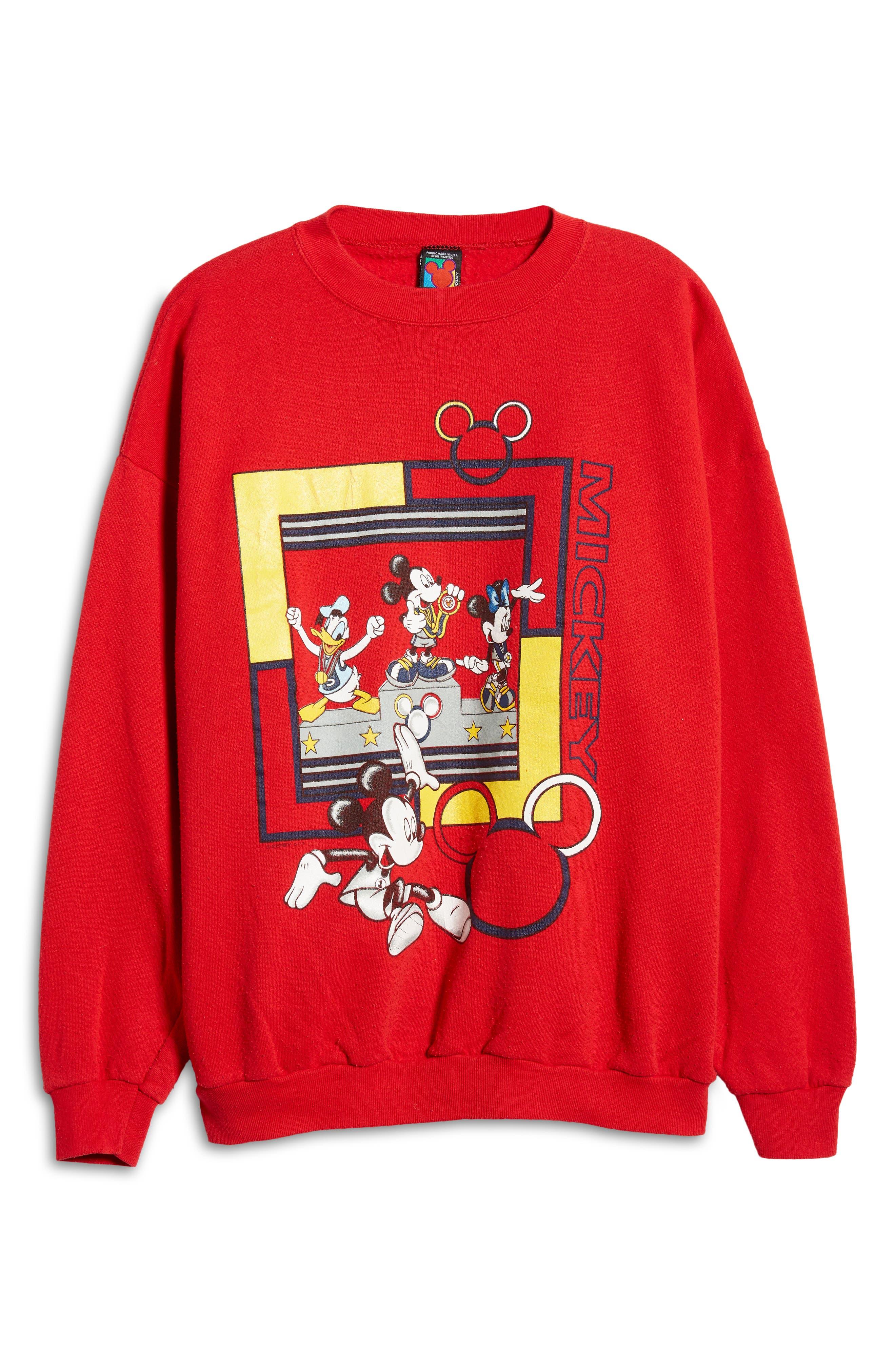 Unisex Secondhand Mickey & Friends Graphic Sweatshirt
