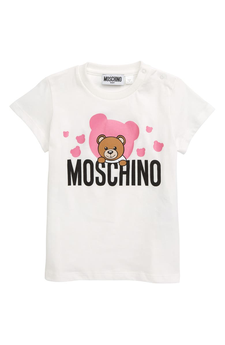 MOSCHINO Teddy Bear Graphic Tee, Main, color, 901