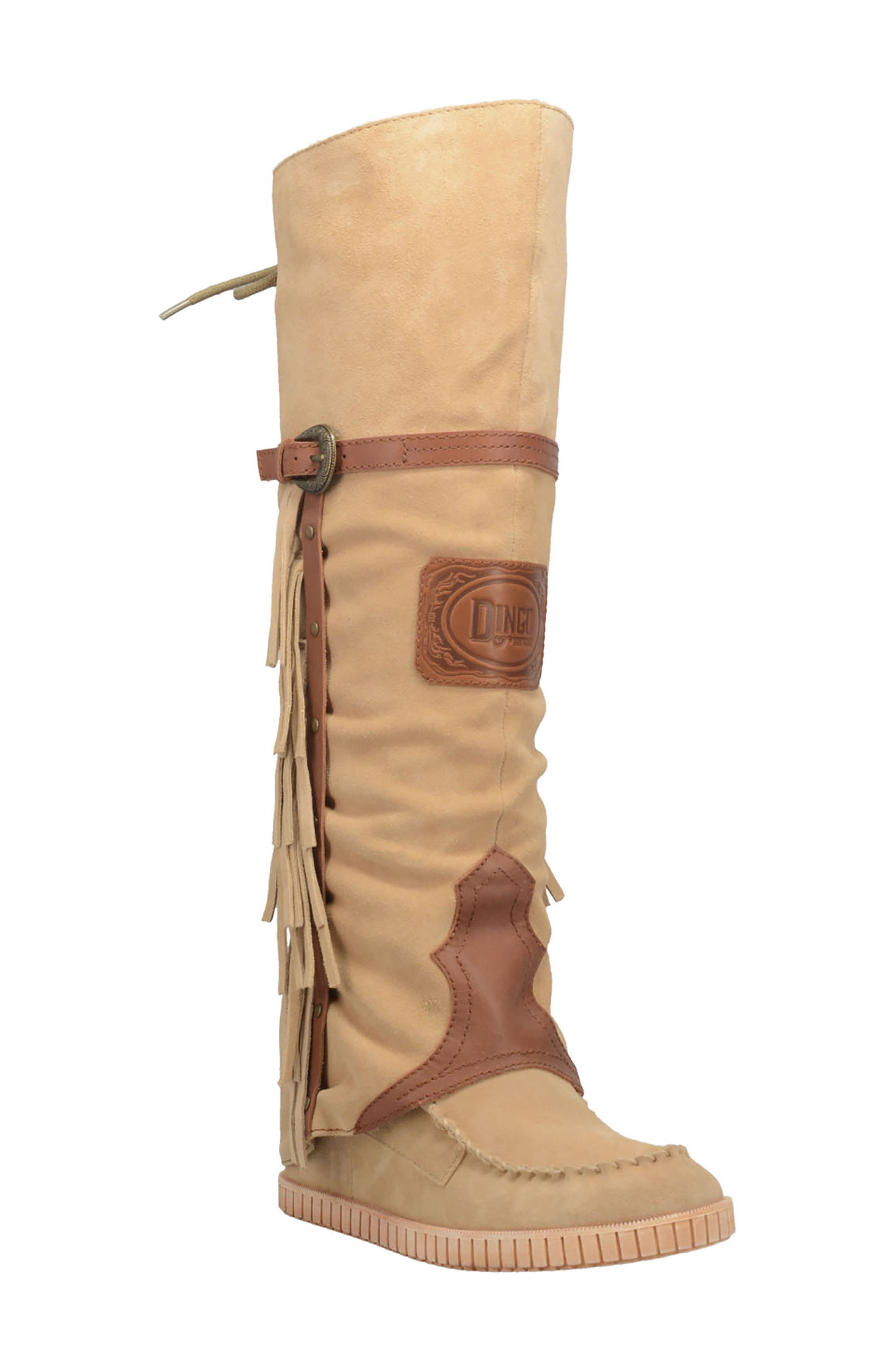 Caddo Knee High Wedge Boot