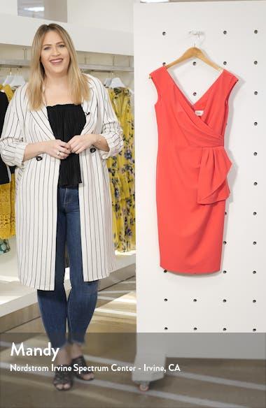 Drape Crepe Sheath Dress, sales video thumbnail