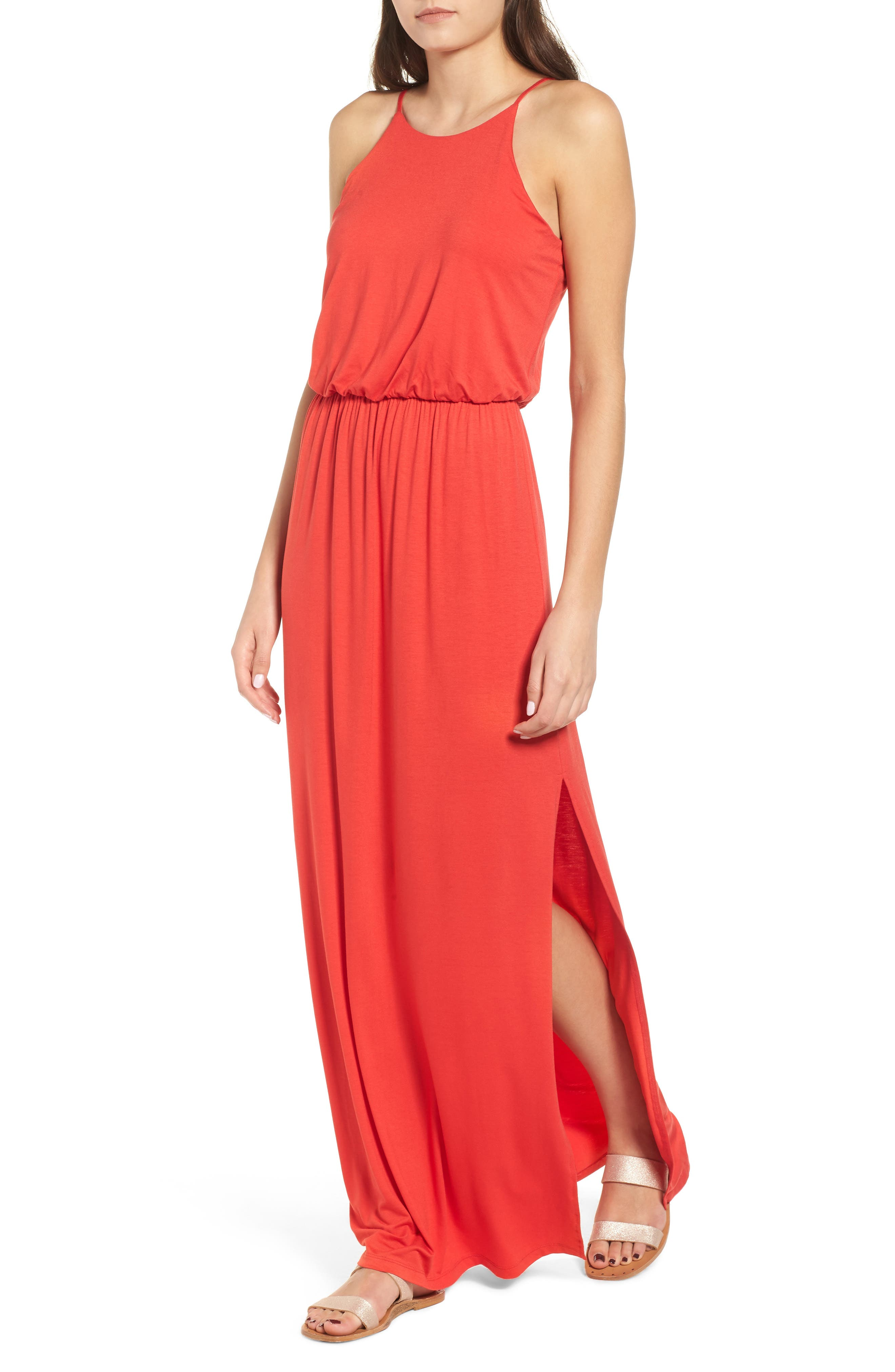 ,                             High Neck Maxi Dress,                             Main thumbnail 23, color,                             602