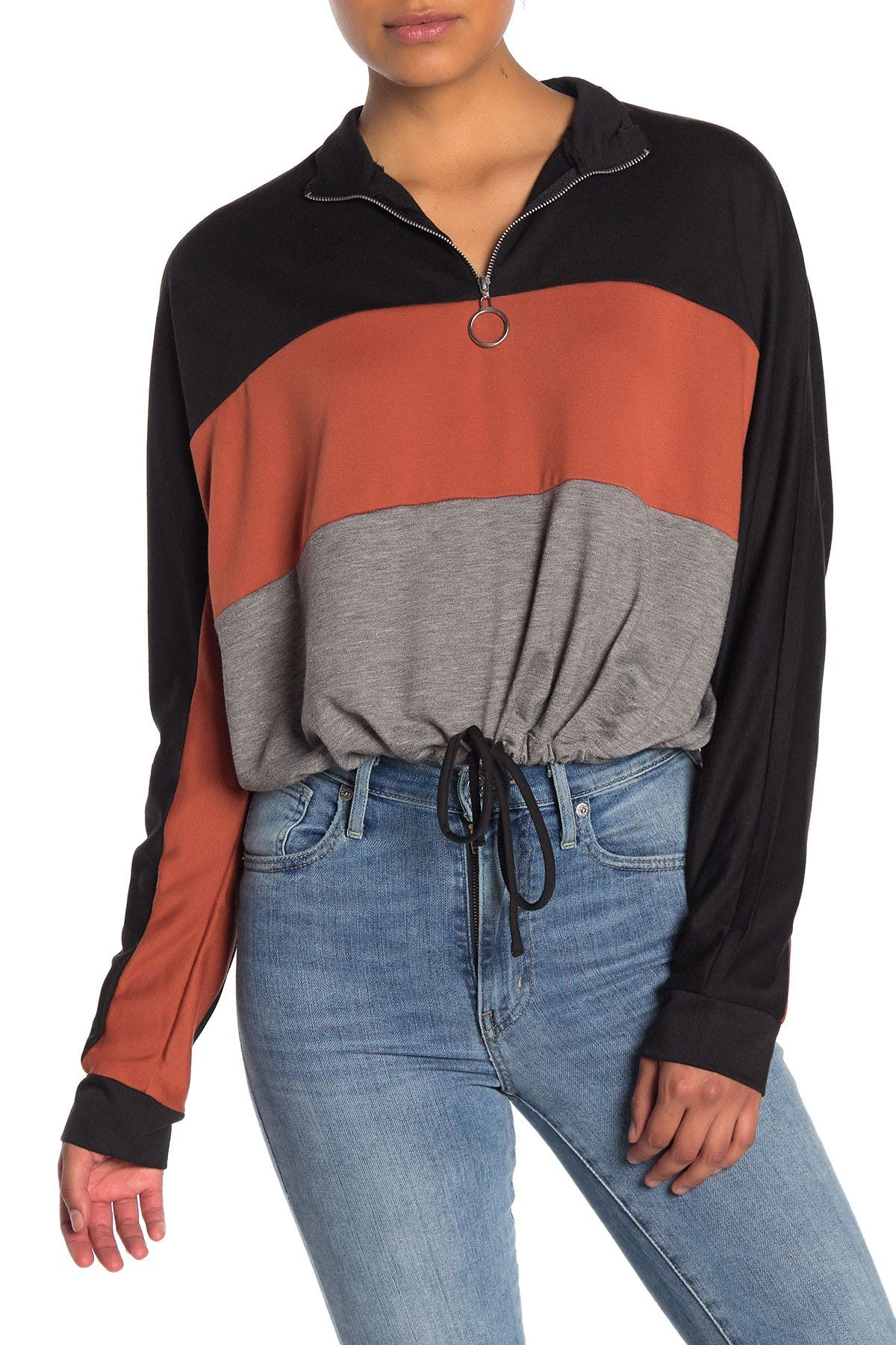 Image of Abound Colorblock Half Zip Pullover Sweater
