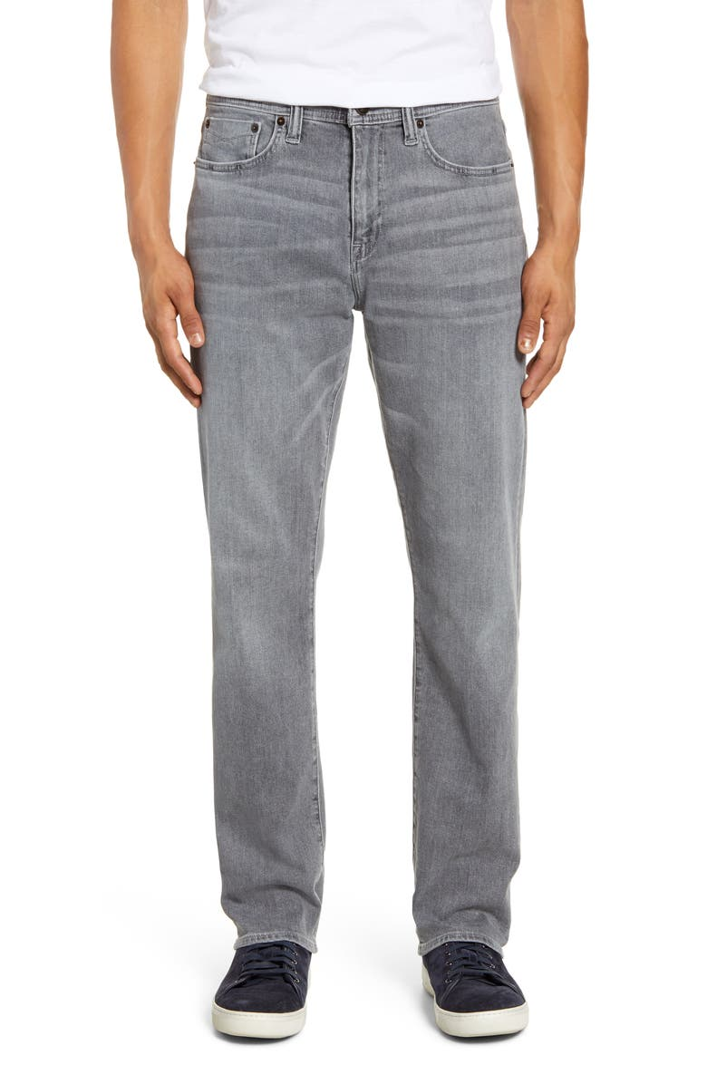 REVTOWN Automatic Straight Leg Jeans, Main, color, STEEL GREY