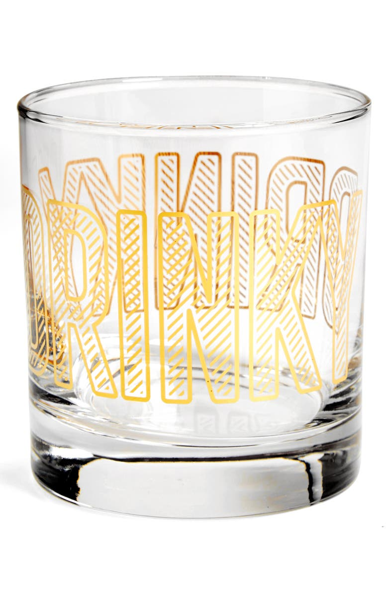 EASY, TIGER Drinky Double Old Fashioned Glass, Main, color, 710