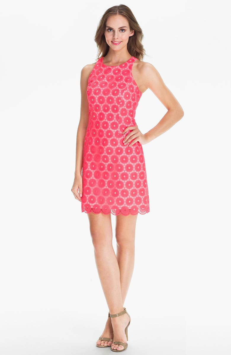 LILLY PULITZER<SUP>®</SUP> 'Pearl' Embellished Lace Dress, Main, color, 650