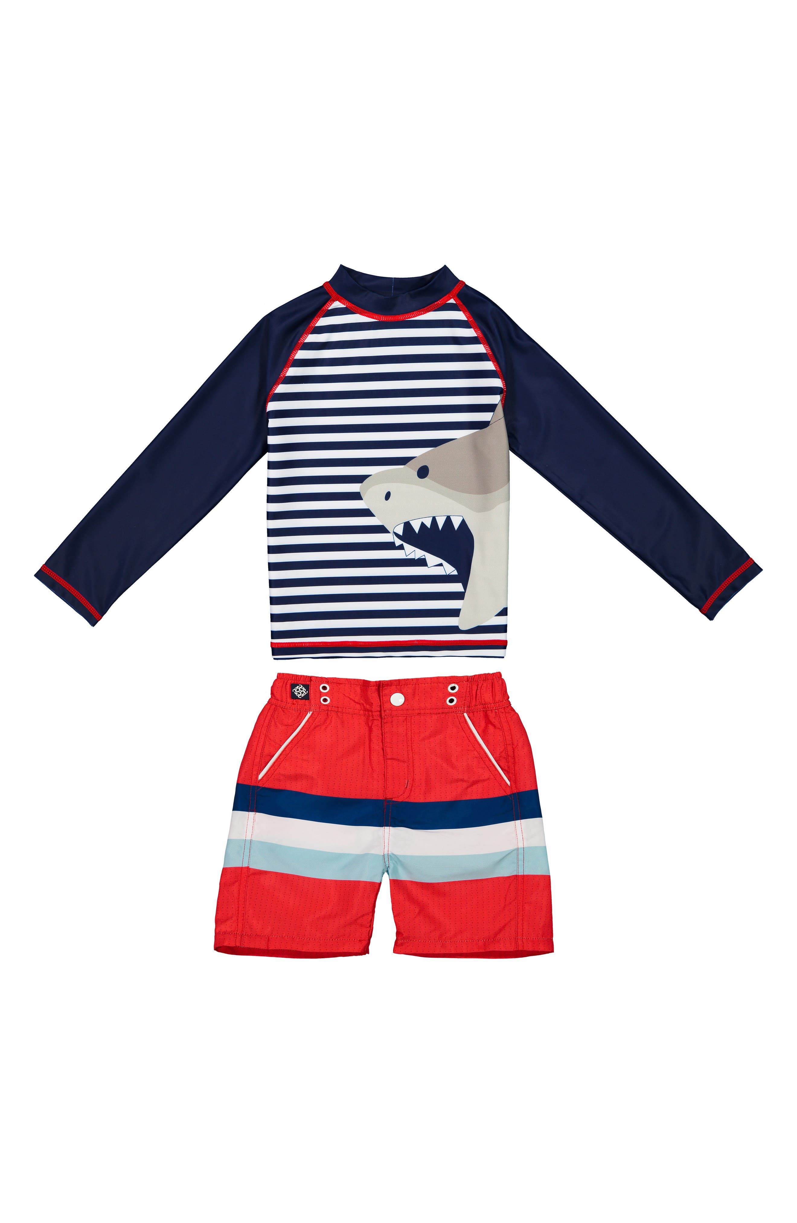 Toddler /& Boys 50 UPF Protection Rashguard Top or Set Andy /& Evan Infant