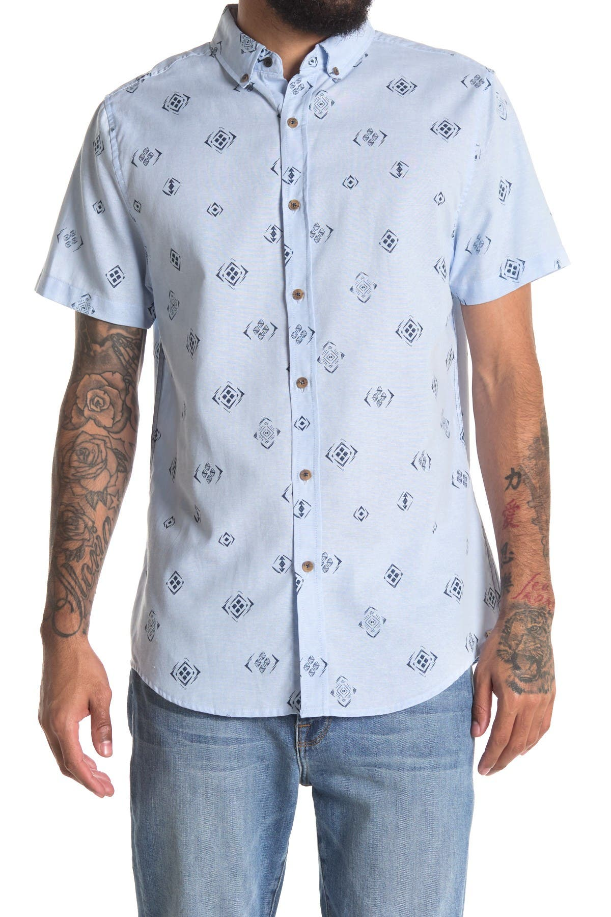 Image of Sovereign Code Abbott Printed Regular Fit Shirt