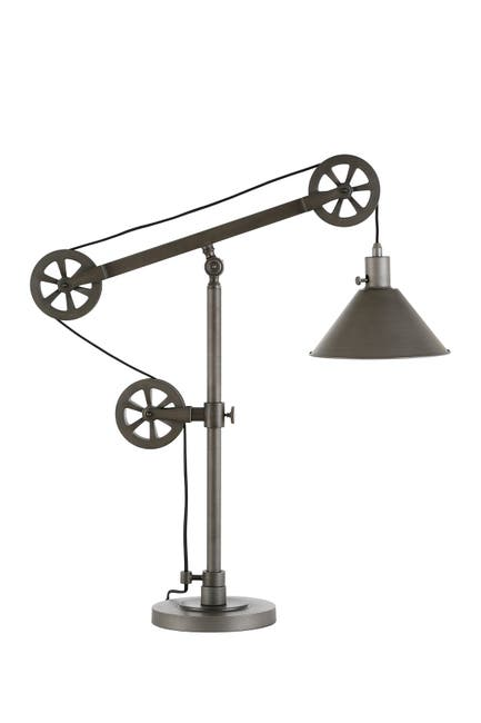 Image of Addison and Lane Descartes Aged Steel Table Lamp with Pulley System