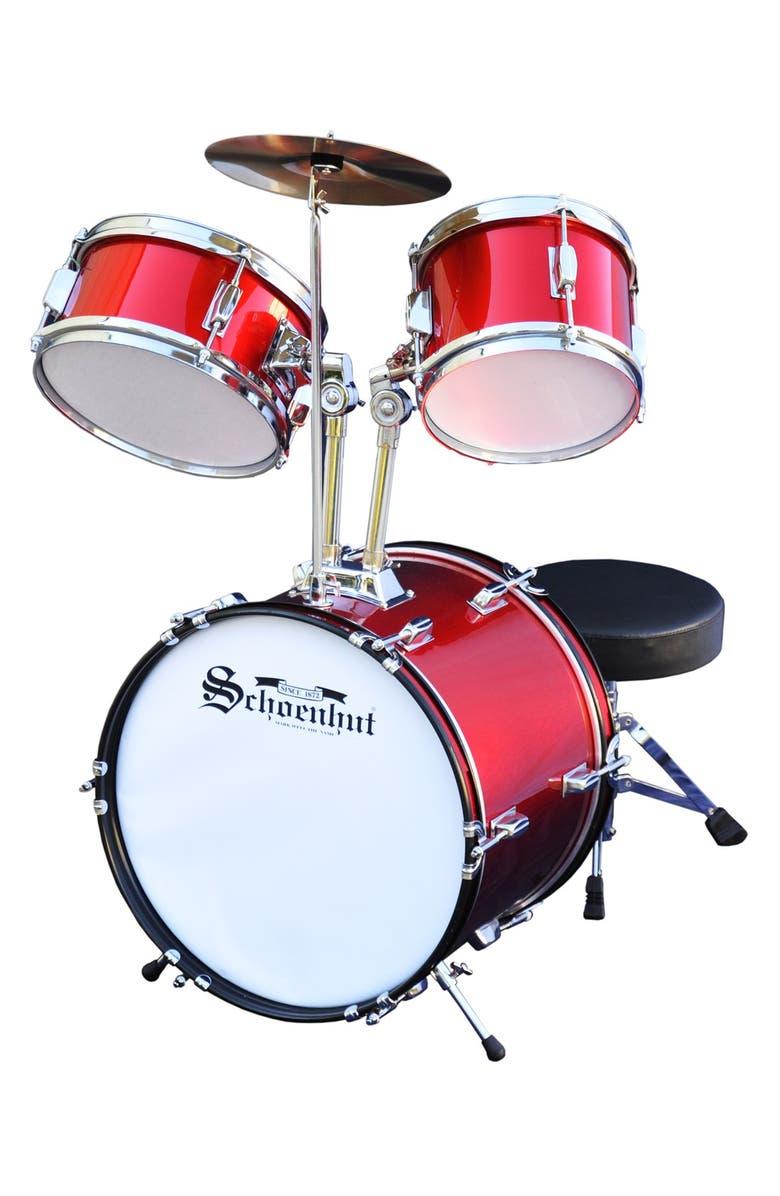 SCHOENHUT 5-Piece Drum Set, Main, color, RED