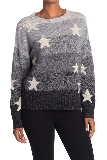 Image of 360 Cashmere Thena Star Print Cashmere Sweater