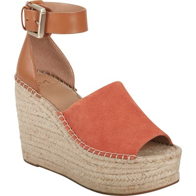 Marc Fisher Ltd Adalyn Espadrille Wedge Sandal, Orange