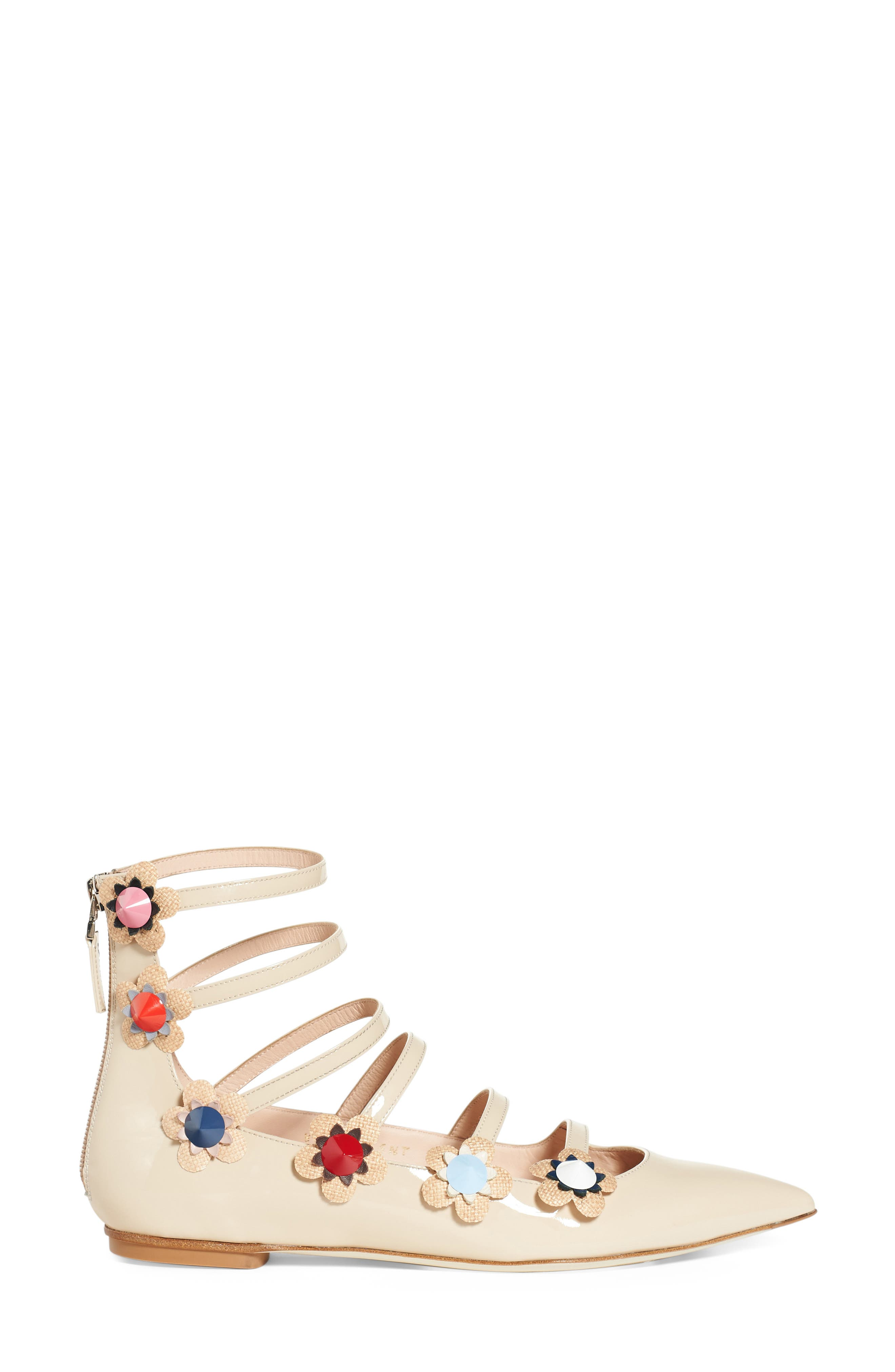 ,                             'Flowerland' Strappy Flat,                             Alternate thumbnail 3, color,                             250