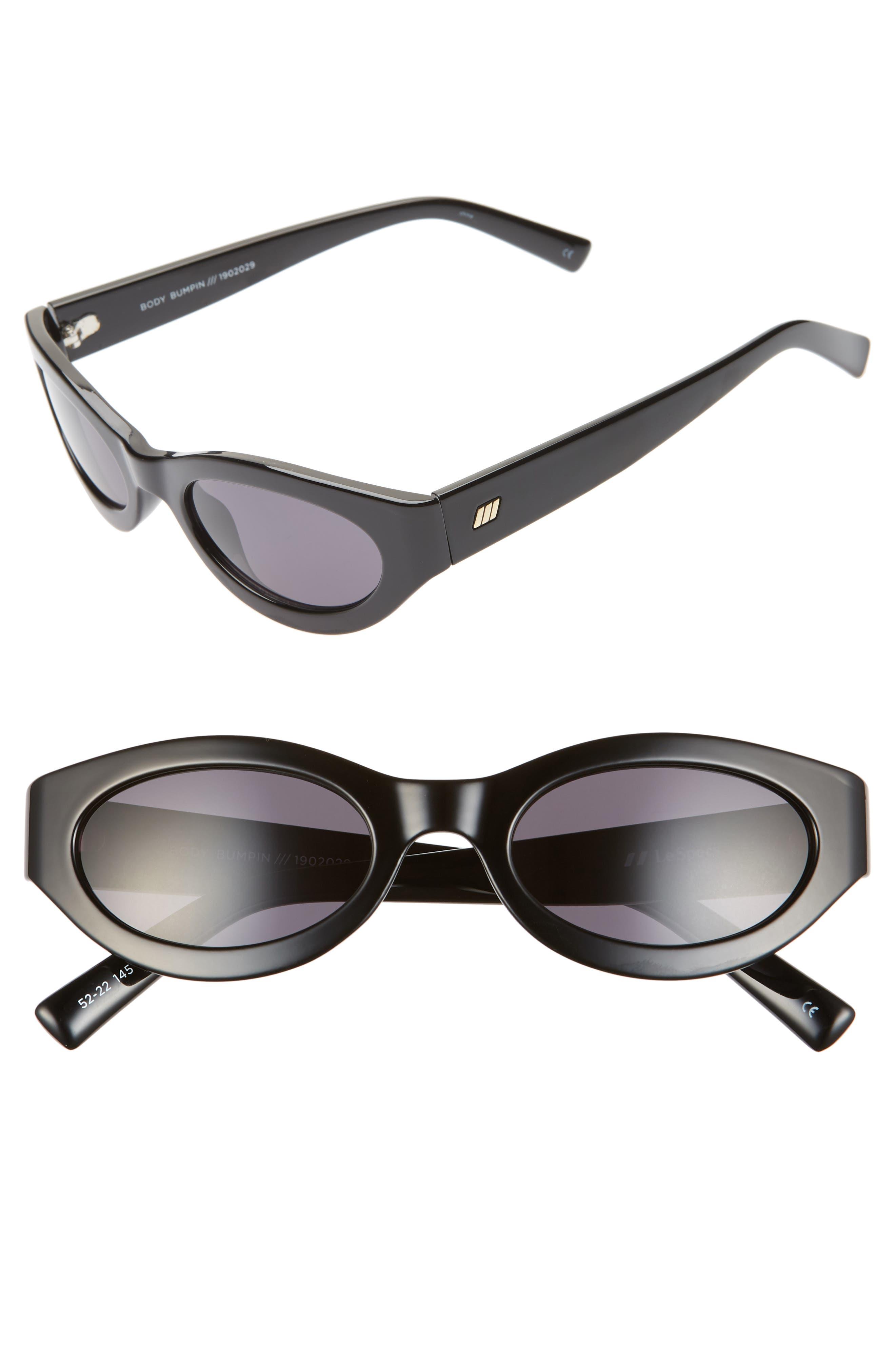 Le Specs Body Bumpin 42Mm Sunglasses - Black
