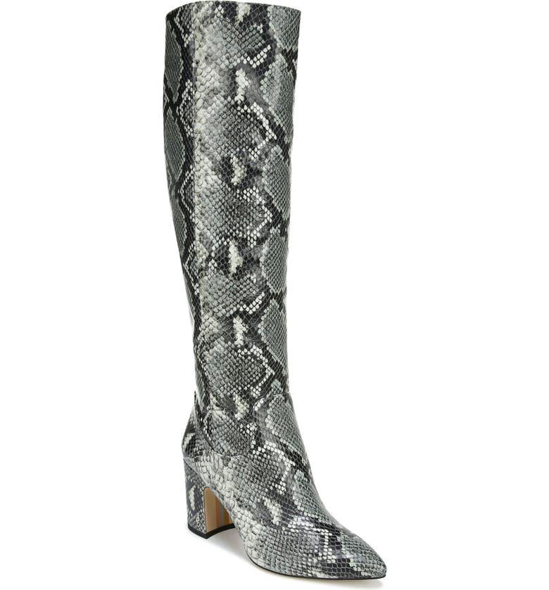 SAM EDELMAN Hai Knee High Boot, Main, color, MINT MULTI LEATHER