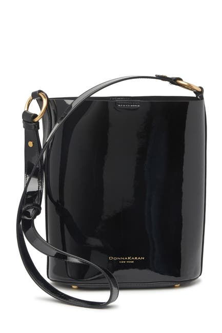 Image of Donna Karan Adan Leather Bucket Crossbody Bag