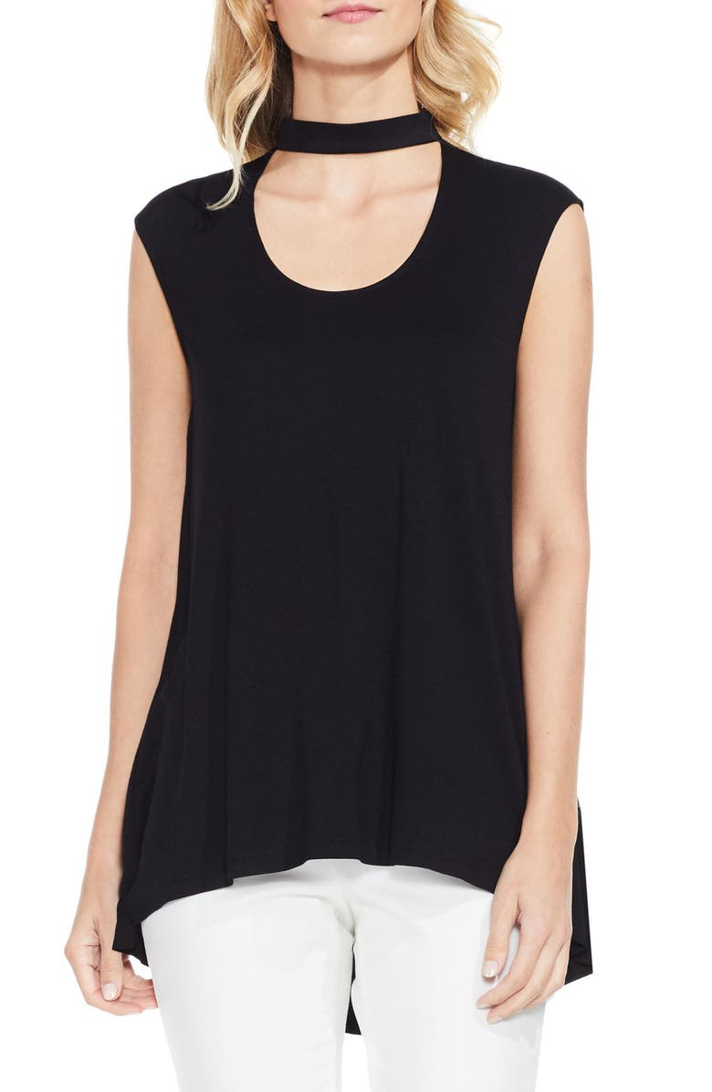 VINCE CAMUTO Choker Neck Top, Main, color, 006
