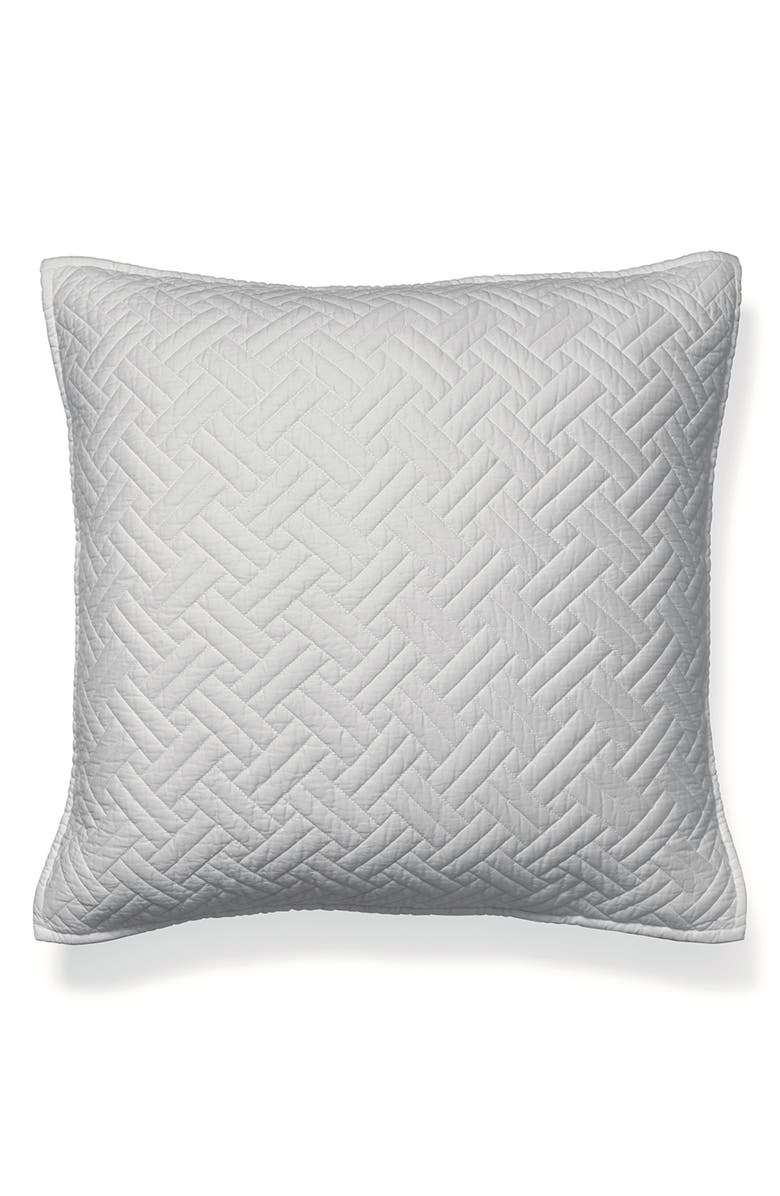 BOLL & BRANCH Heritage 300 Thread Count Quilted Euro Sham, Main, color, PEWTER