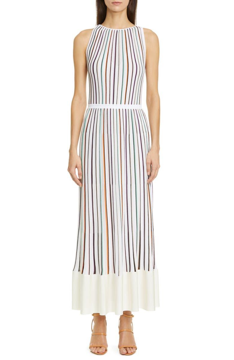 MISSONI Multicolor Stripe Rib Maxi Dress, Main, color, 100