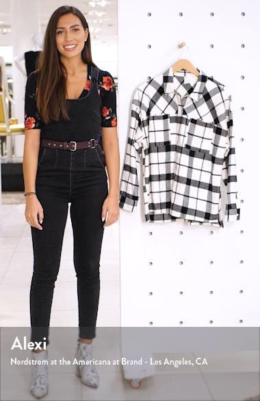 x Claudia Sulewski Oversized Flannel Shirt, sales video thumbnail