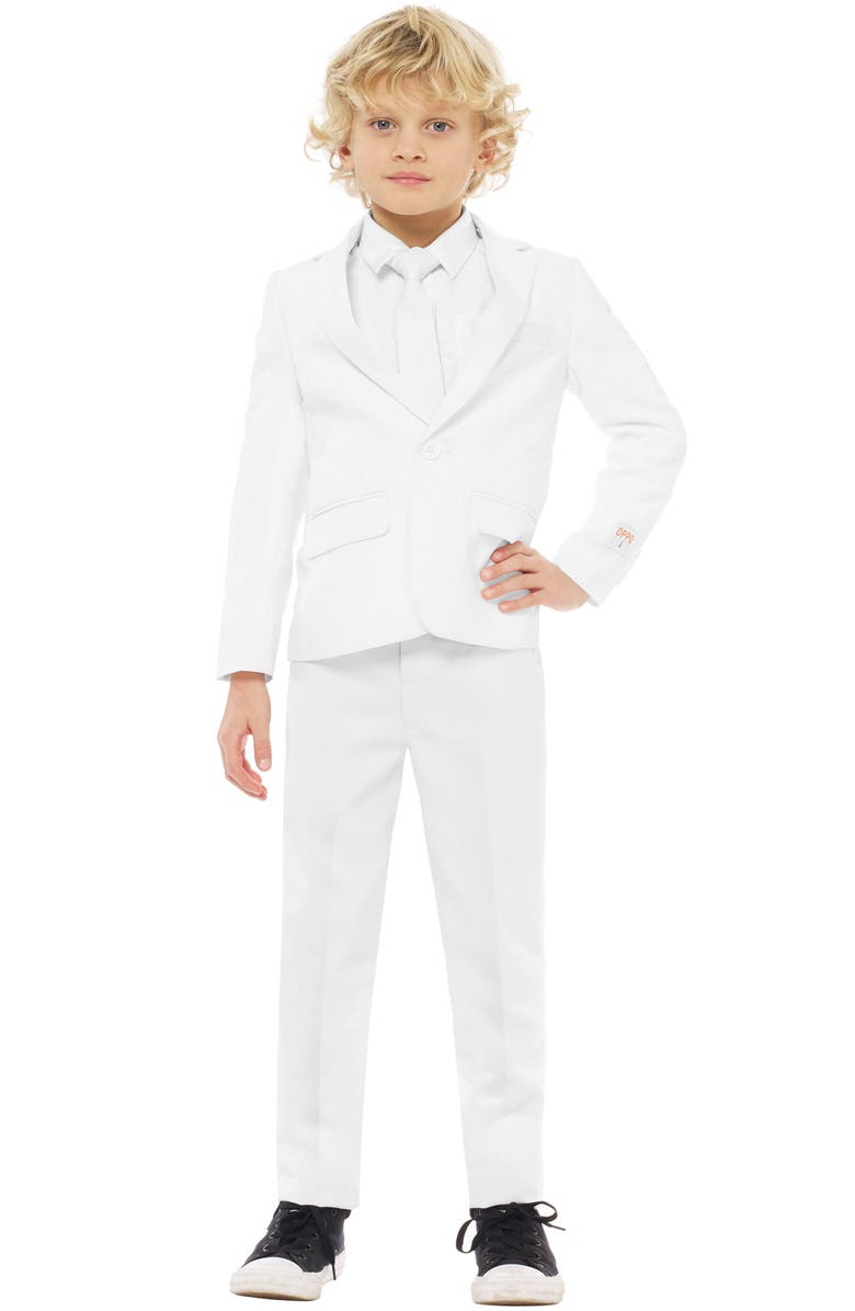 OPPOSUITS Knight Two-Piece Suit with Tie, Main, color, WHITE