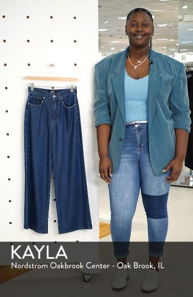 Holly High Waist Crop Wide Leg Jeans, sales video thumbnail