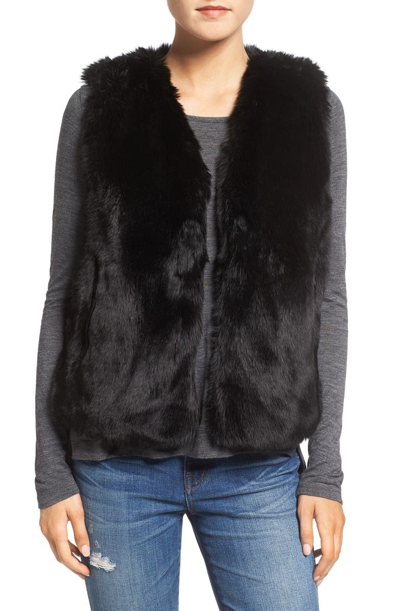 MADEWELL Faux Fur Vest, Main, color, 001