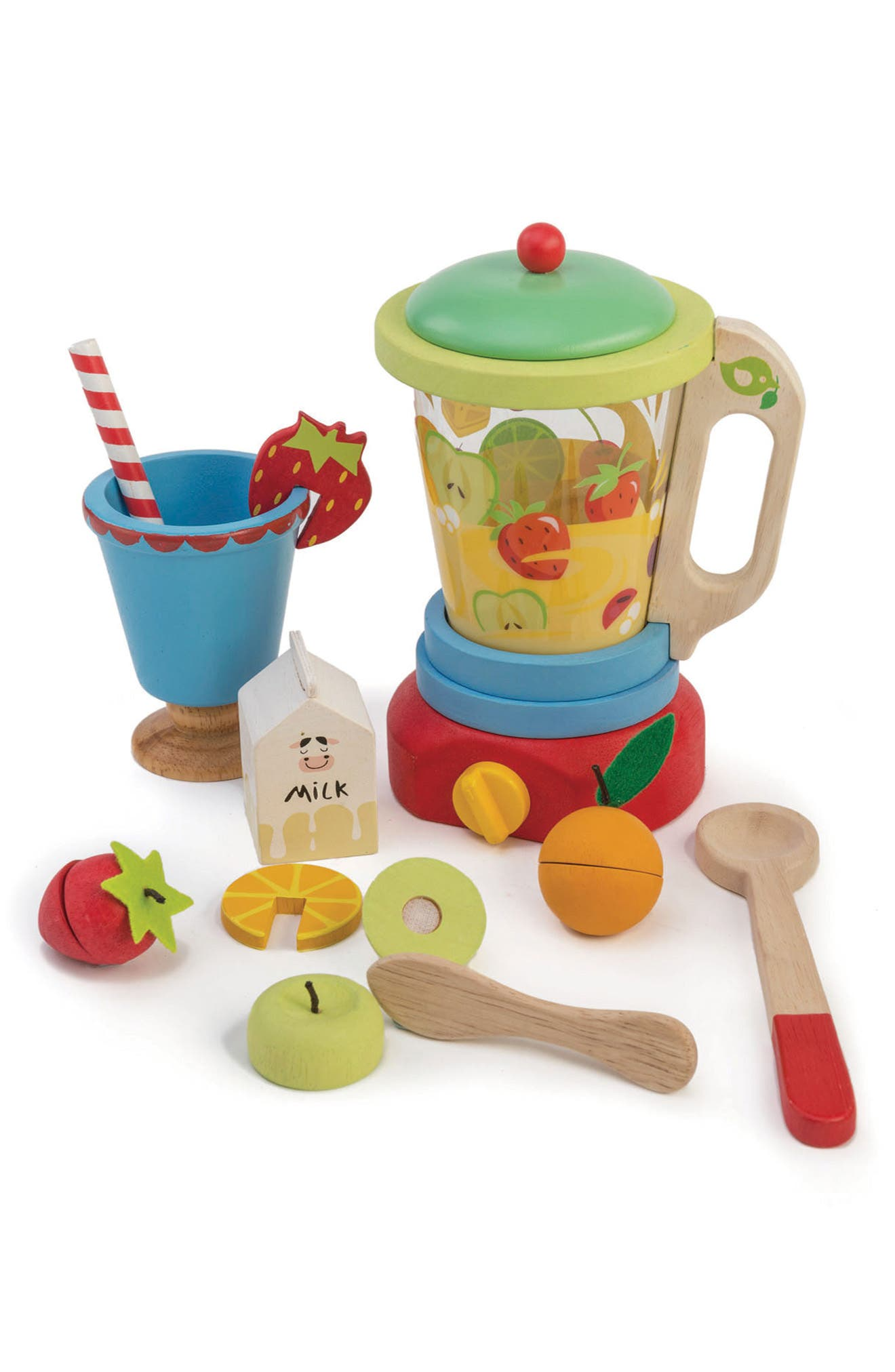 A bright, cheery smoothie maker toy set lets little ones pretend to recreate their favorites. Style Name: Tender Leaf Toys Smoothie Maker Toy. Style Number: 5940634. Available in stores.