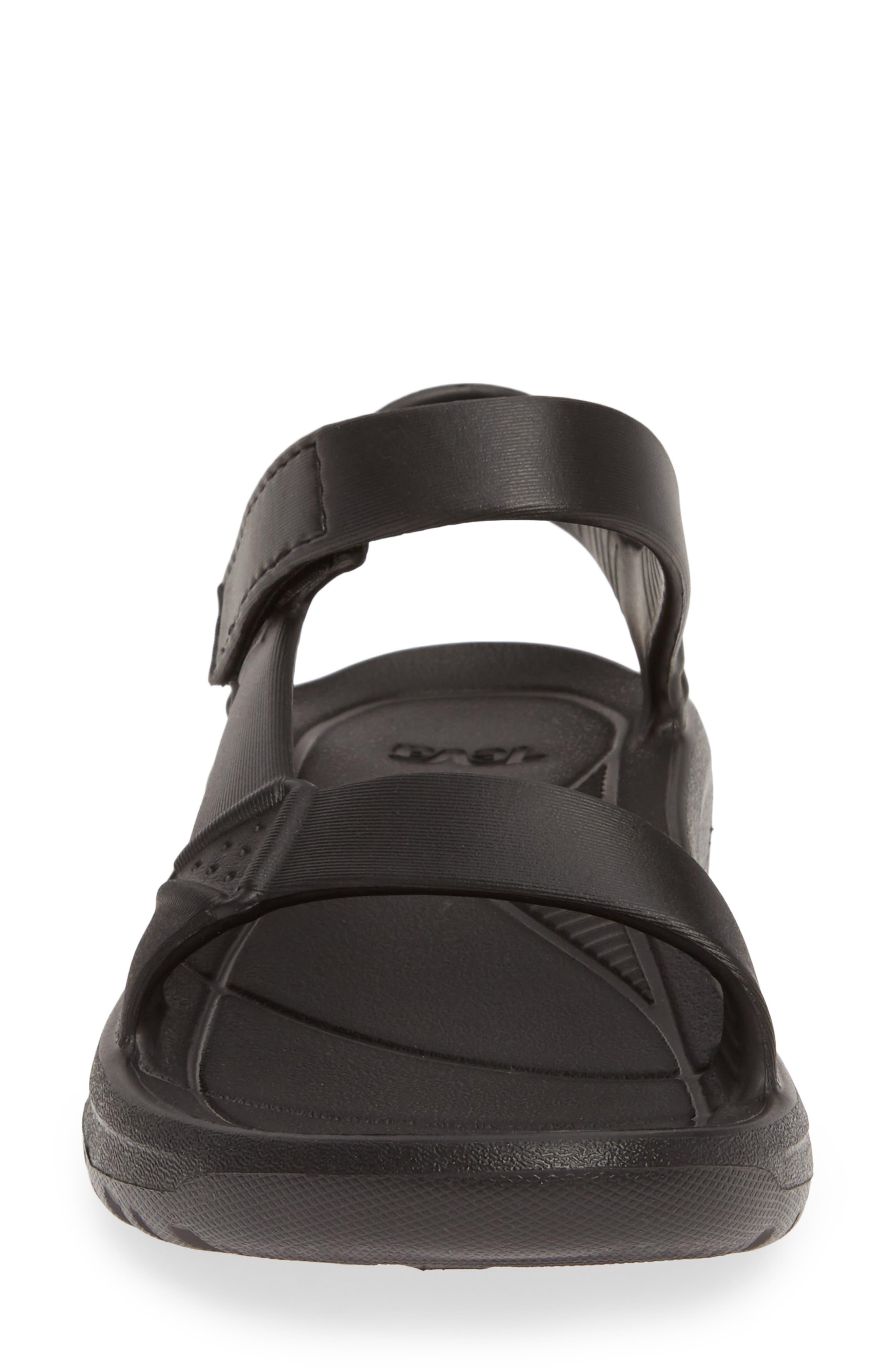 ,                             Hurricane Drift Water Friendly Sandal,                             Alternate thumbnail 4, color,                             BLACK FABRIC