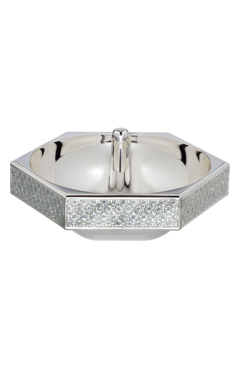 WATERFORD Lismore Diamond Silver Ring Holder, Main, color, 100