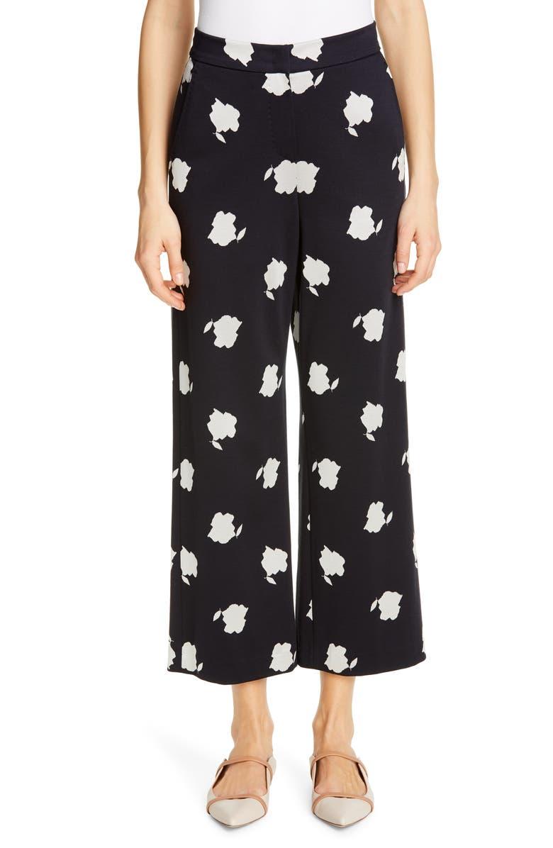 MAX MARA Bora Print Crop Pants, Main, color, ULTRAMARINE