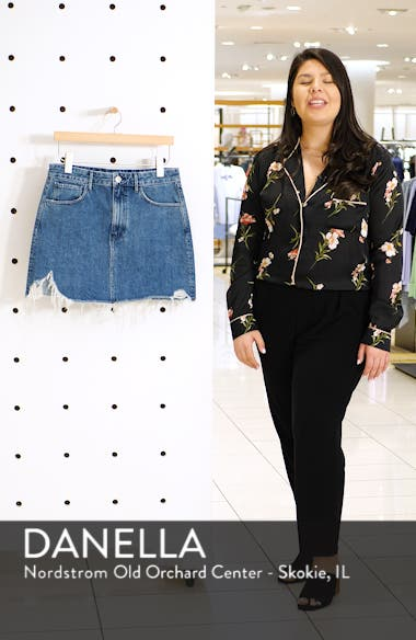 Celine Distressed Denim Skirt, sales video thumbnail