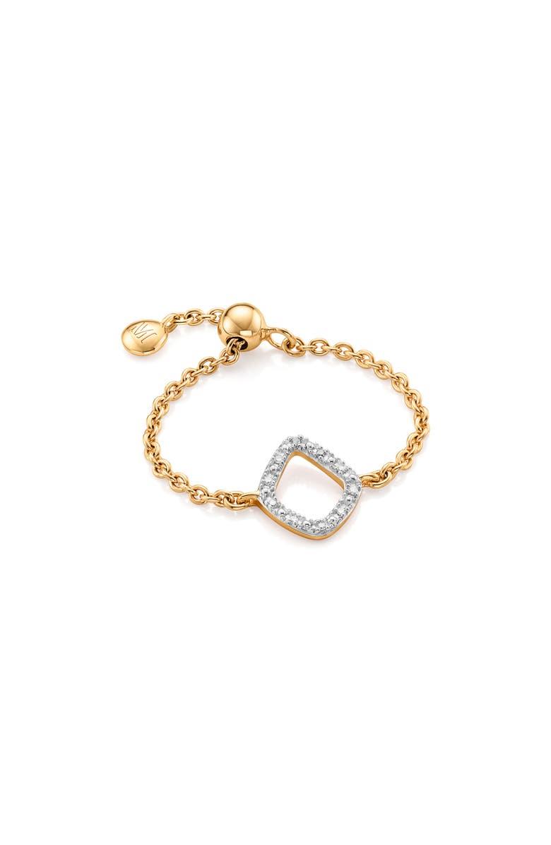 MONICA VINADER Riva Mini Kite Diamond Friendship Ring, Main, color, YELLOW GOLD/ DIAMOND
