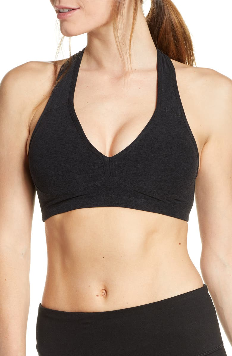 BEYOND YOGA Lift Your Spirits Sports Bra, Main, color, DARKEST NIGHT
