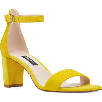 Nine West Pruce Ankle Strap Sandal, Yellow