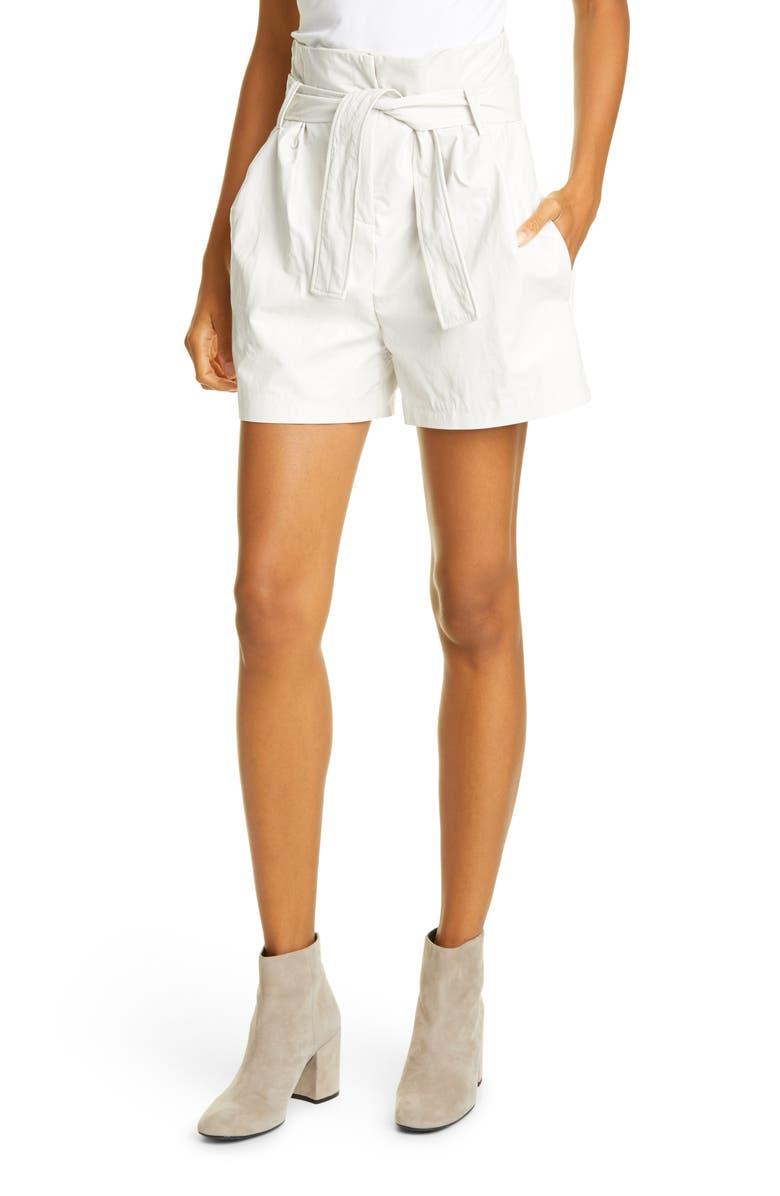 BA&SH Sol Paperbag Waist Shorts, Main, color, BLANC