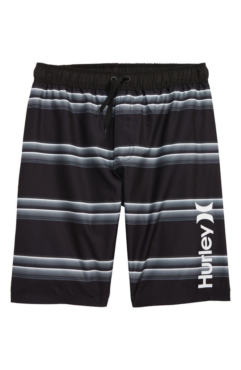HURLEY Serape Stripe Swim Trunks, Main, color, 012