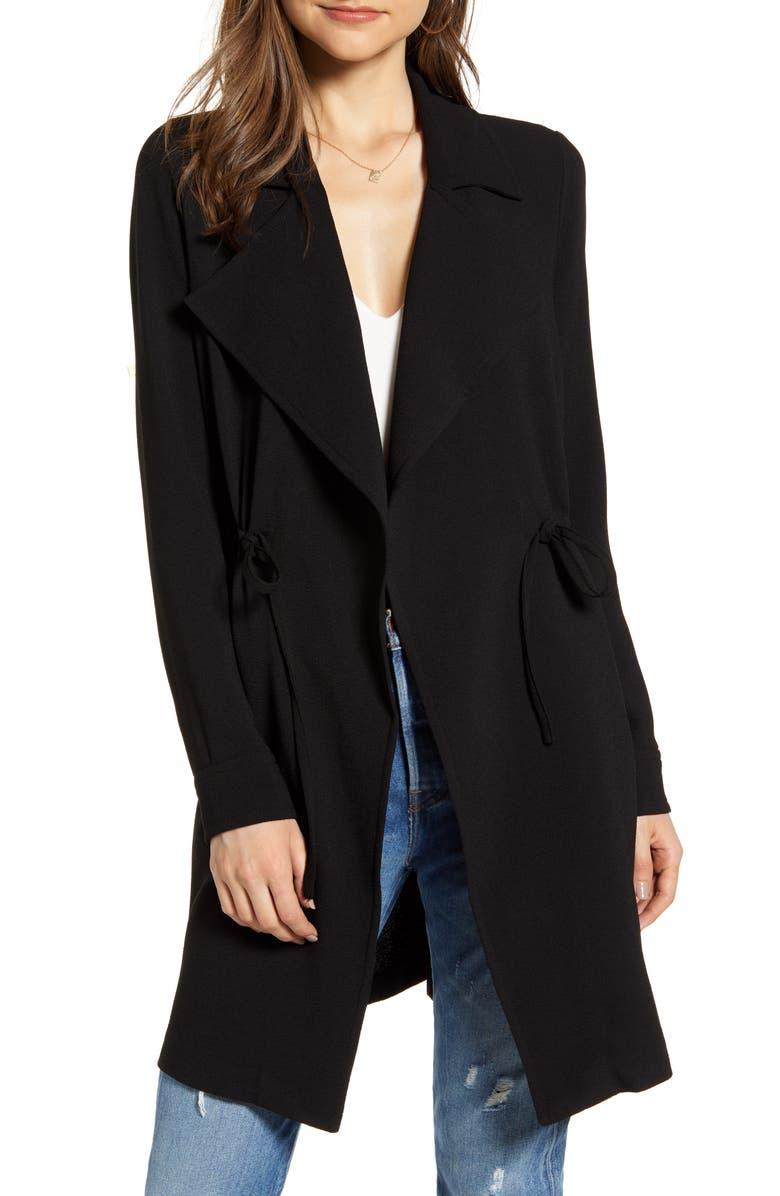 VERO MODA Solid Open Front Jacket, Main, color, 001