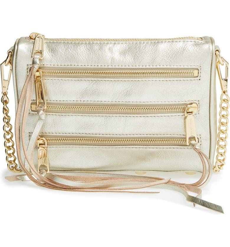 REBECCA MINKOFF 'Mini 5 Zip' Crossbody Bag, Main, color, 710